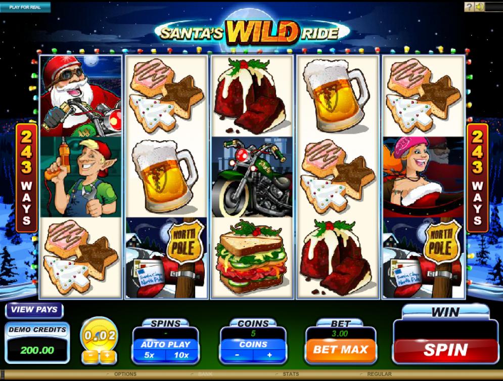 A Microgaming Slot: Santas Wild Ride