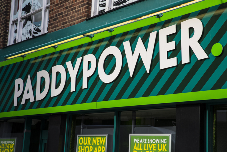 the shopfront of a Paddy Power betting shop