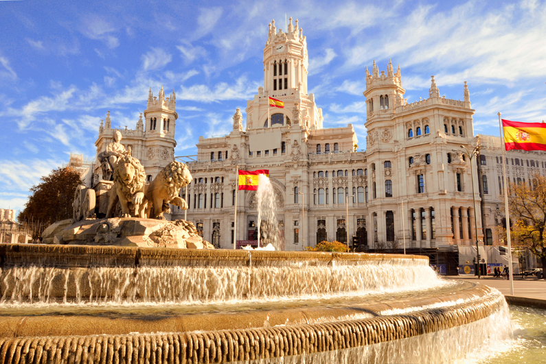 the famous Cibeles fountain in Madrid, Spain