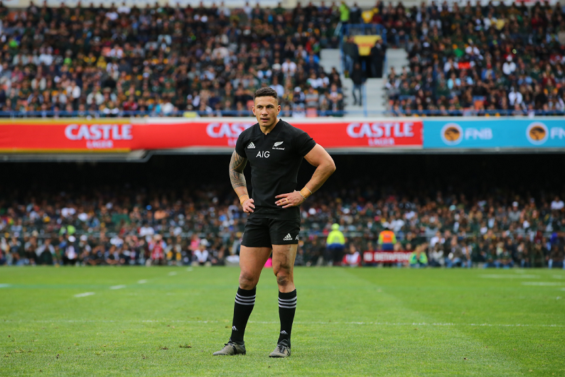 Sonny Bill Williams playing for New Zealand