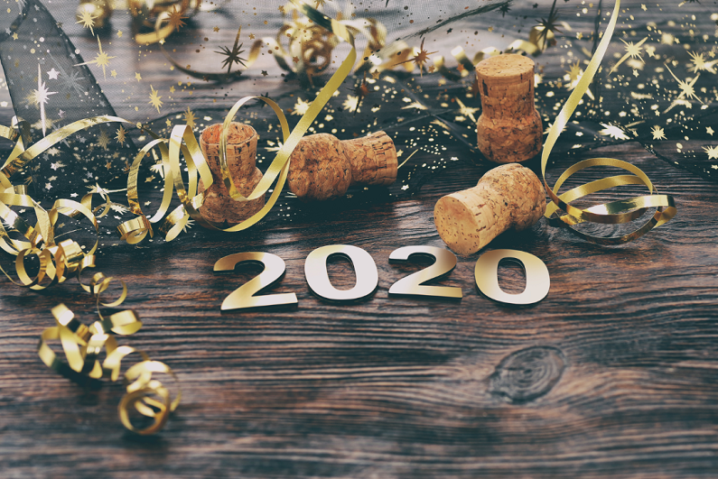 New Year's 2020 celebratory photo