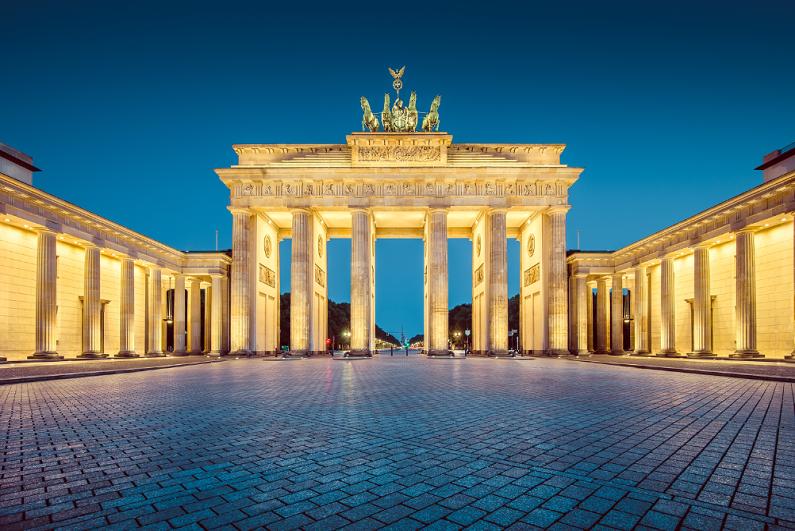 evening view of Brandenburger Tor