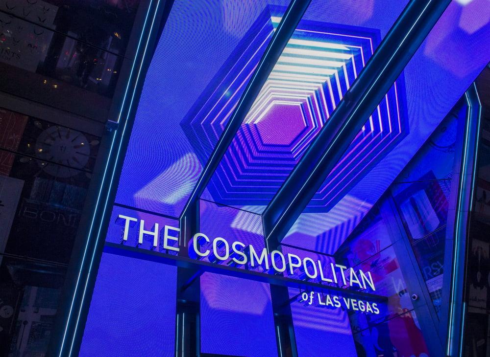 Cosmopolitan Hotel sign in Las Vegas