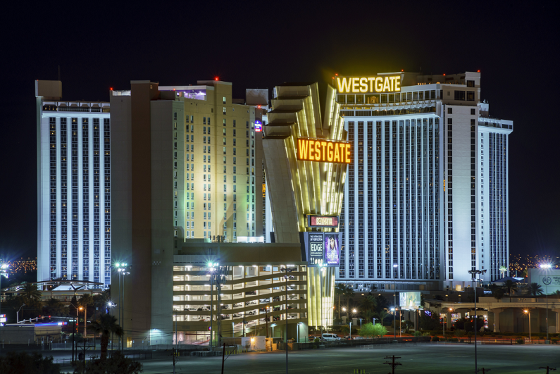 night view of the Westgate Casino