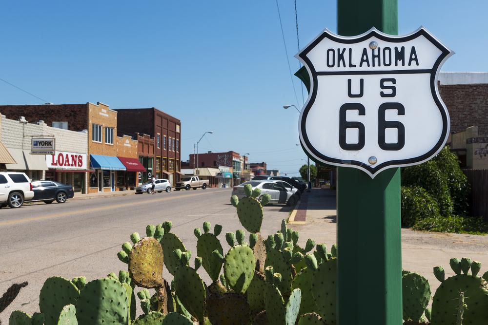 Oklahoma US 66 road sign