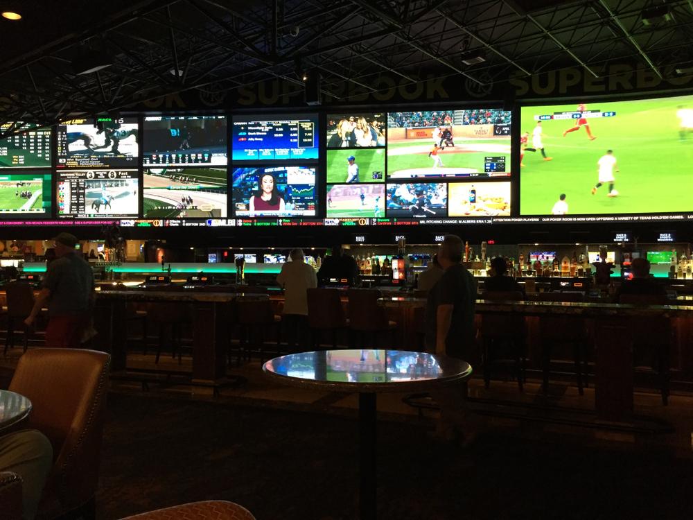 interior of a Las Vegas sportsbook