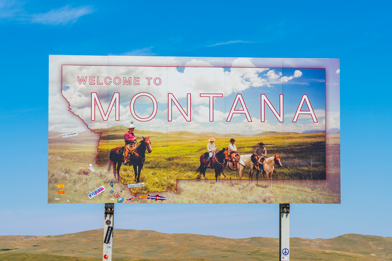 Montana welcome sign