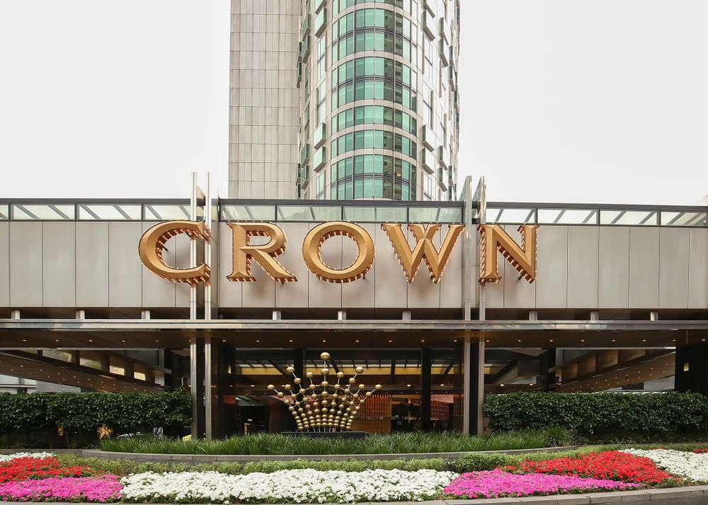 Crown Resorts hotel sign