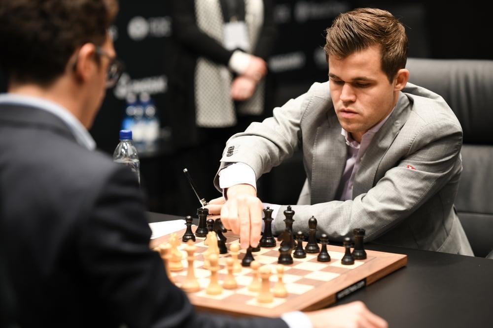 World Chess Champion Magnus Carlsen during a game