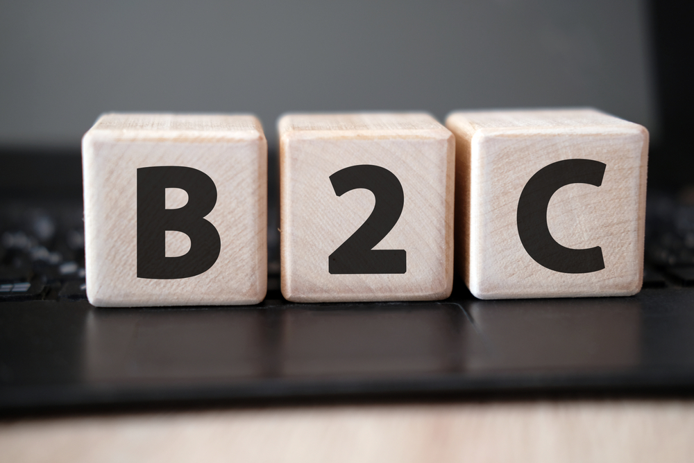 cubes with B2C imprinted