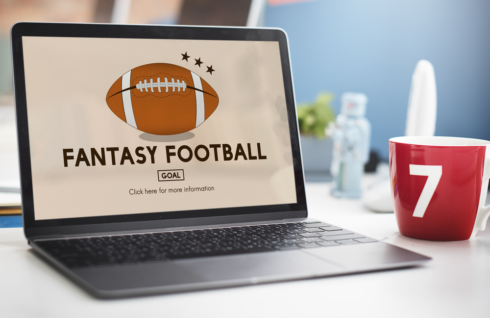 fantasy football website on laptop