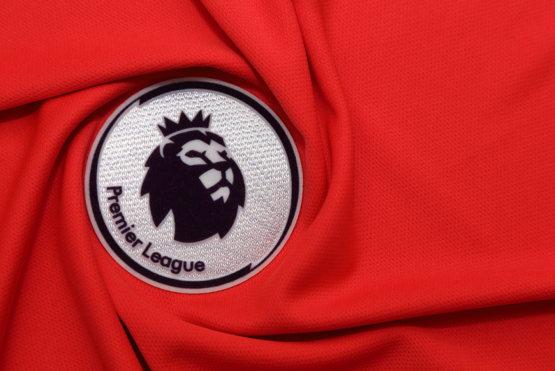 Premier League badge on a shirt