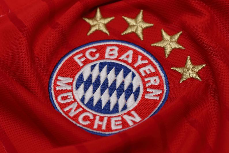 logo of Bayern Munich on shirt