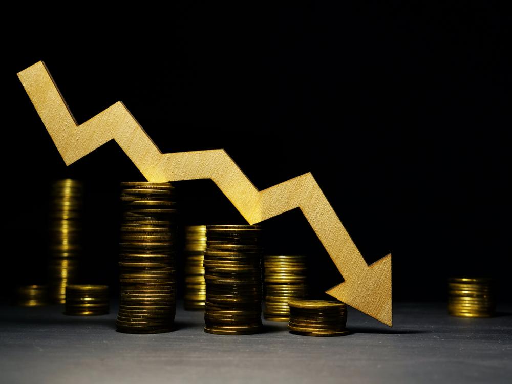illustration of a downward economic trend