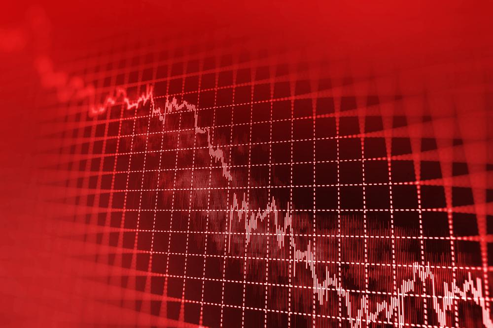 graph showing revenue drop