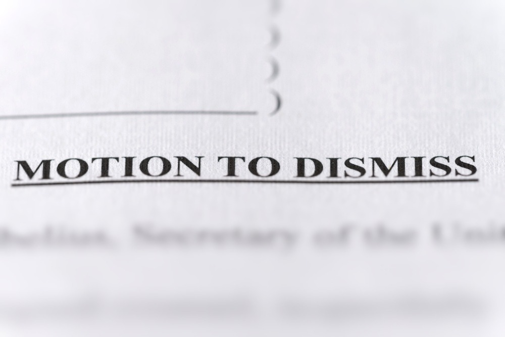 legal paperwork for motion to dismiss