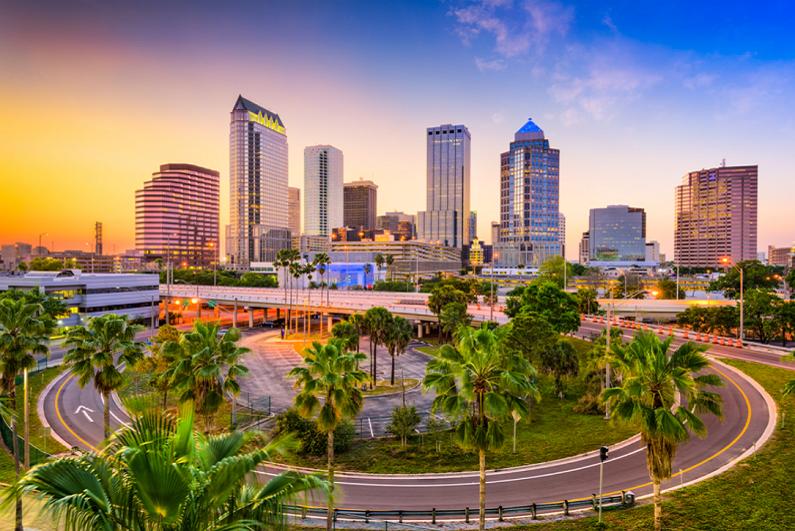 Tampa, Florida, downtown skyline