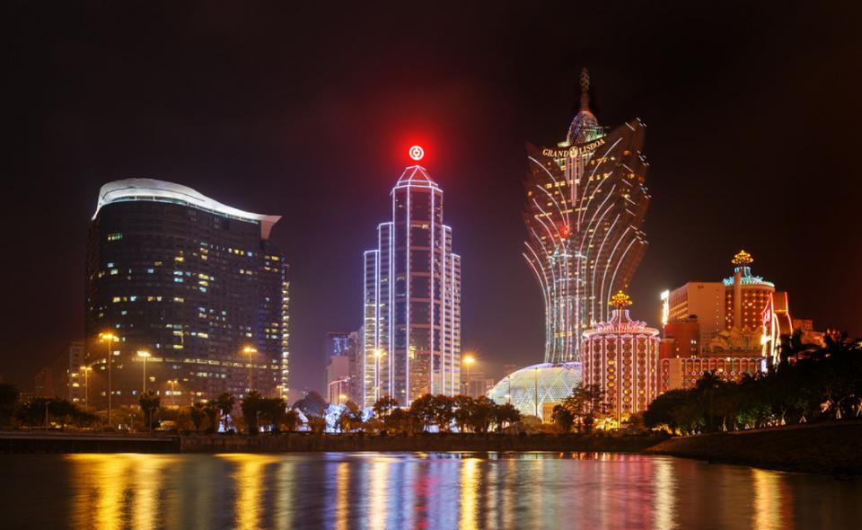 Macau casinos in the evening