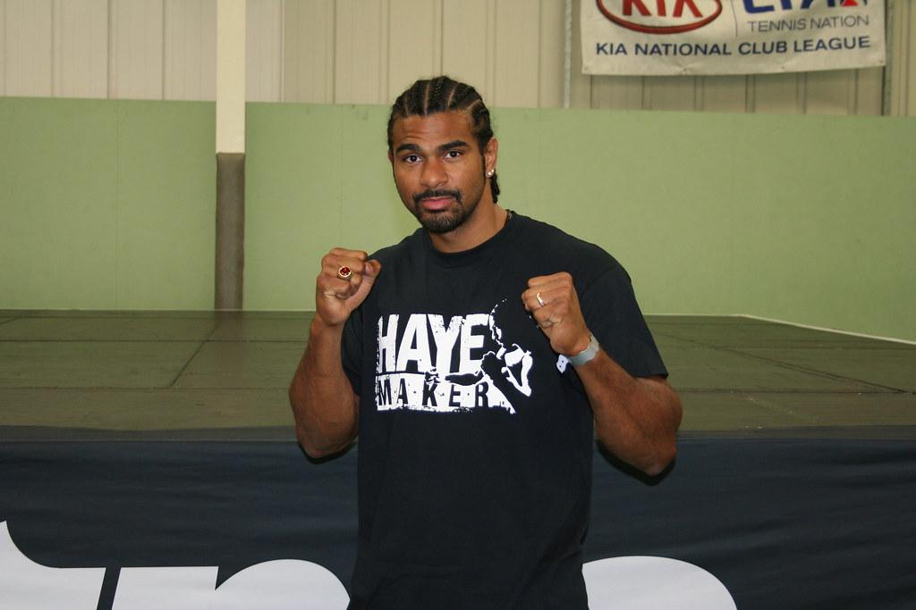 Former boxing champion David Haye