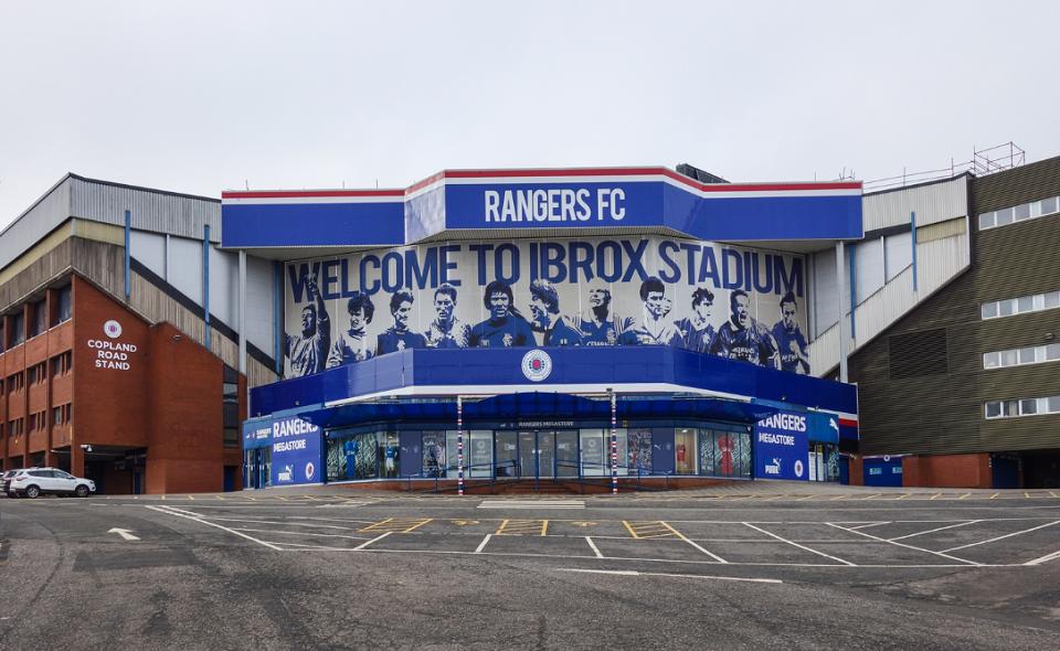 Ibrox Stadium, home arena of Rangers FC