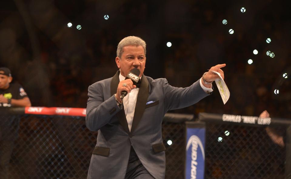 Bruce Buffer announcing UFC fight
