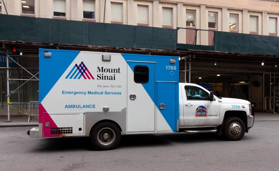 Mount Sinai hospital ambulance in New York City