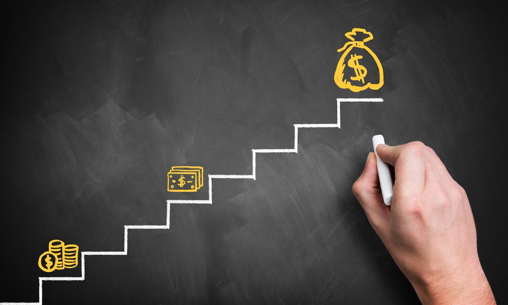 illustration showing money increase