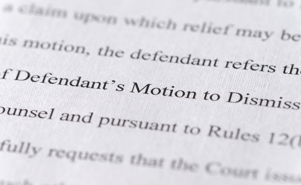 motion to dismiss text