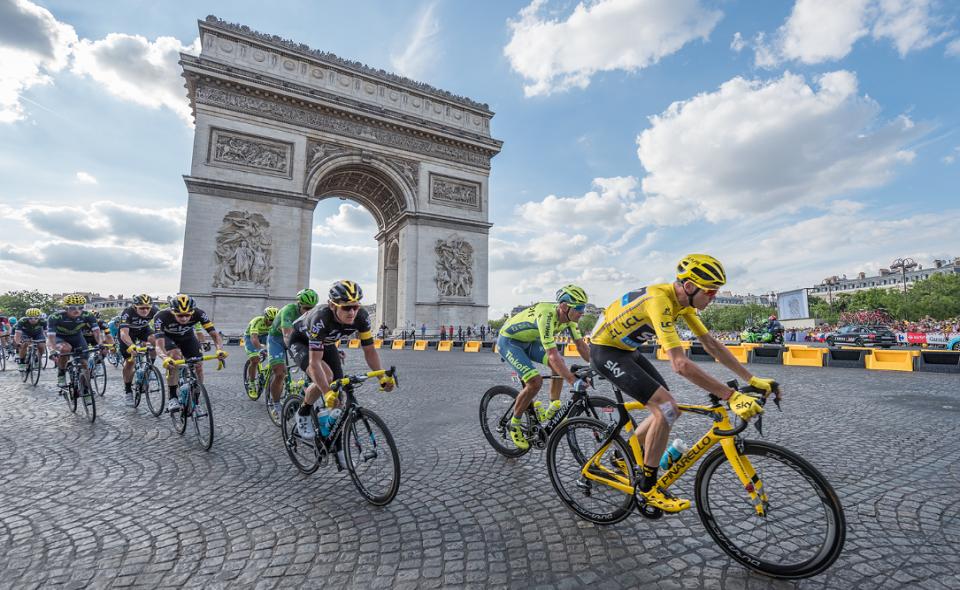 Tour de France 2016 on the Champs Elysees Avenue