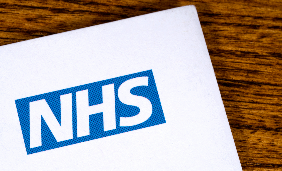 National Health Service logo on a letterhead