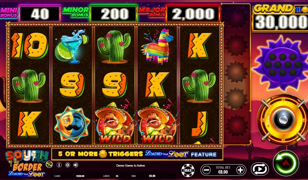 South of the Border slot reels by Ainsworth