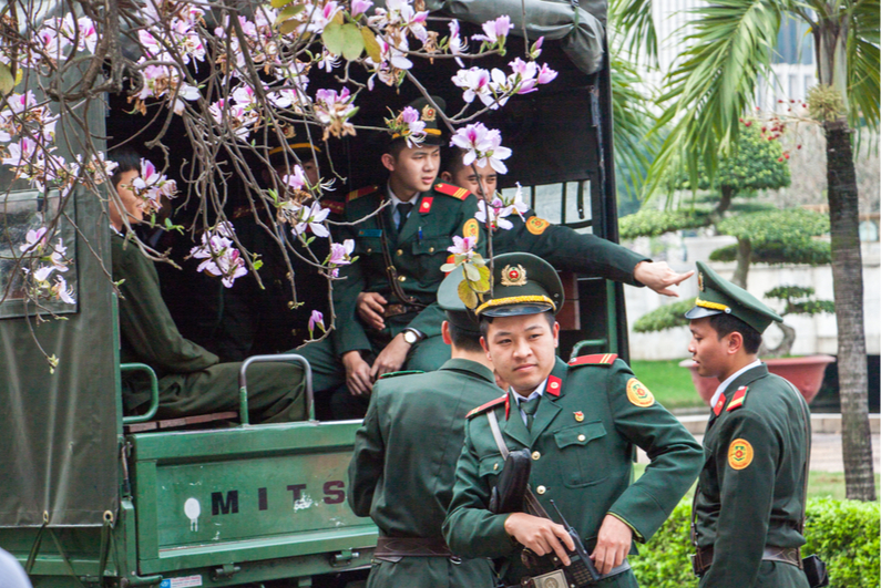 Vietnamese police officers