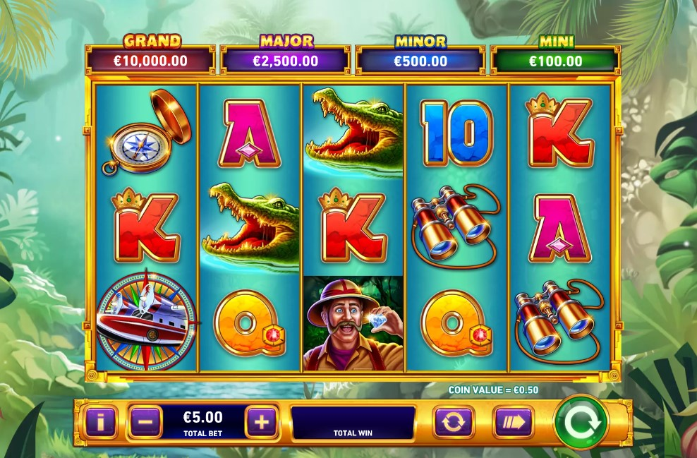 Adventure Trail online slot reels by Playtech