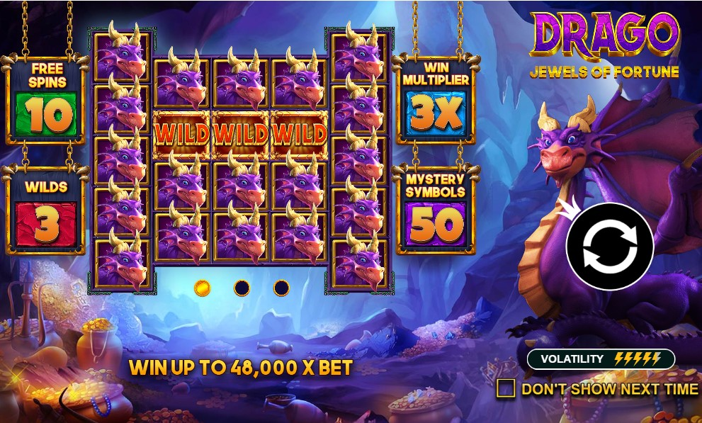 Drago Jewels of Fortune slot reels by Pragmatic Play