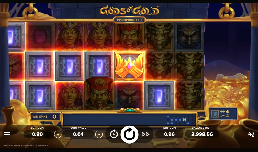 Gods of Gold: InfiniReels slot reels by NetEnt