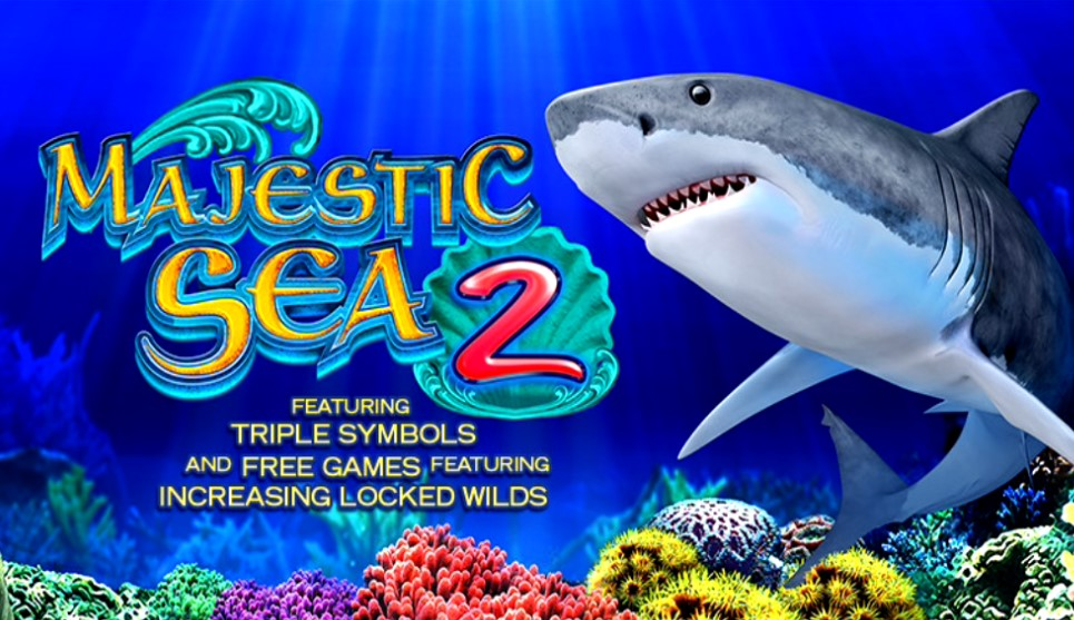 Majestic Sea 2 slot logo by High 5 Games