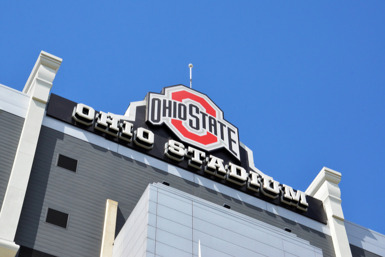 Exterior of Ohio Stadium at Ohio State University