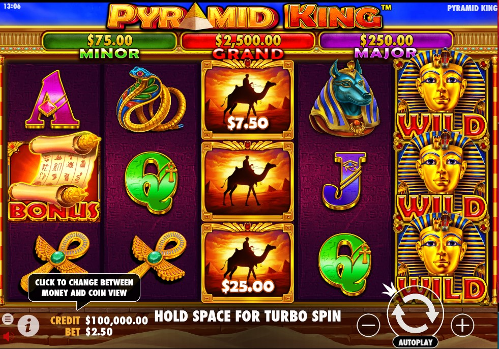 Pyramid King slot reels by Pragmatic Play