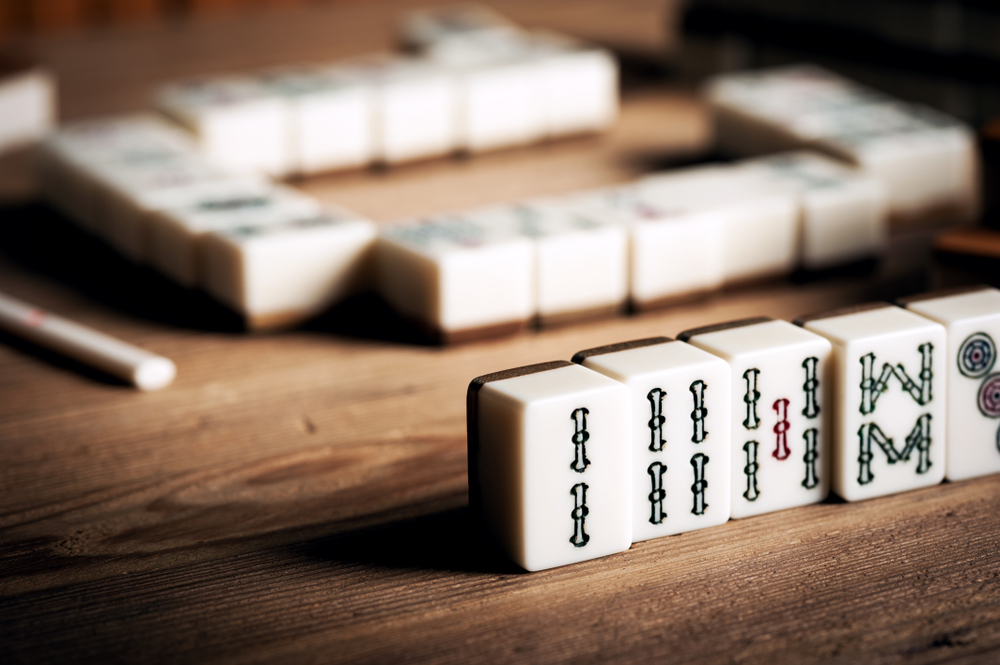 Chinese tile game mahjong
