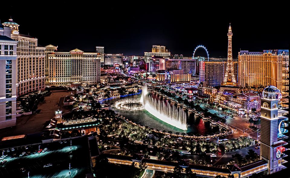 panoramic view of the Las Vegas Strip