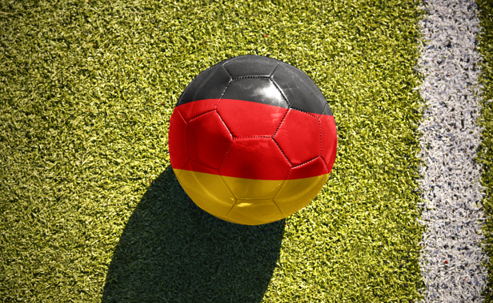 soccer ball with the national flag of Germany