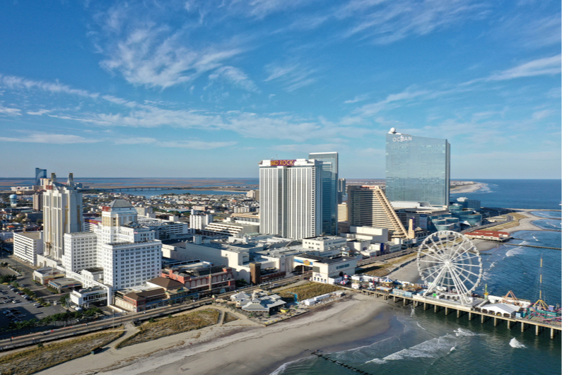 Aerial view of Atlantic City during COVID-19 pandemic