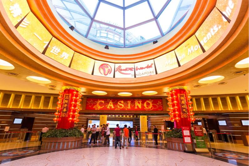 Interior of Resorts World Sentosa casino in Singapore
