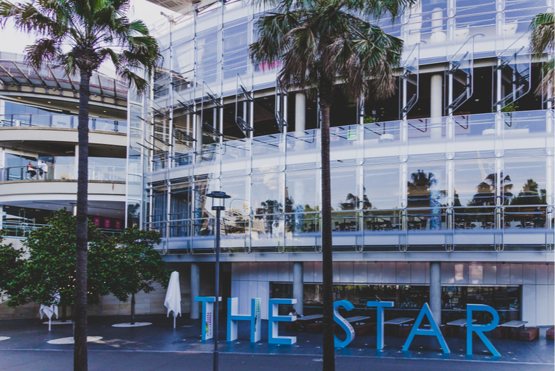 Exterior of the Star Sydney casino