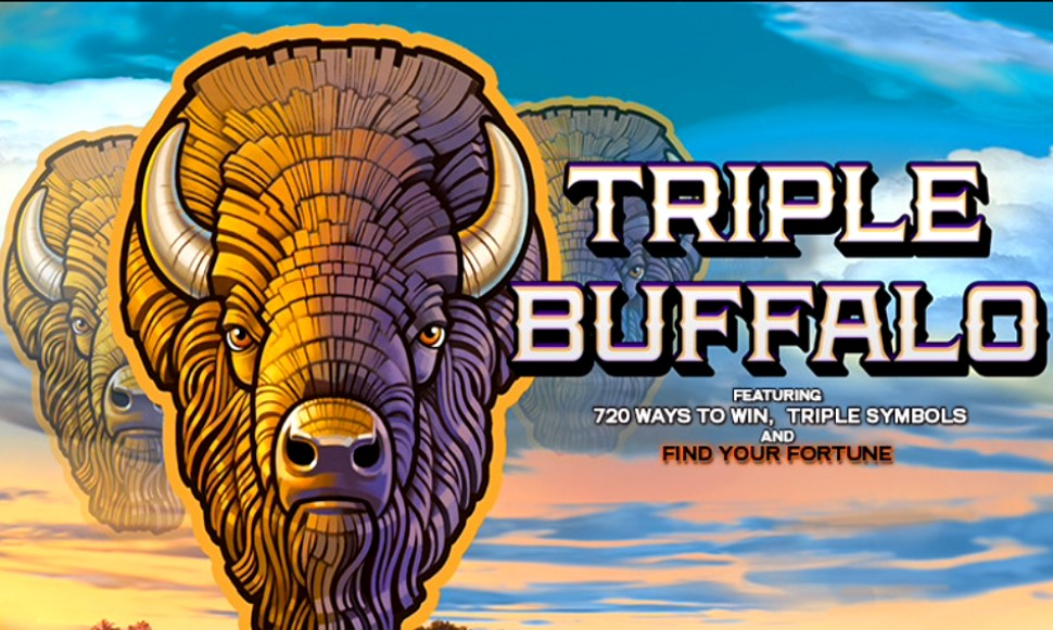 Triple Buffalo slot logo from High 5 Games
