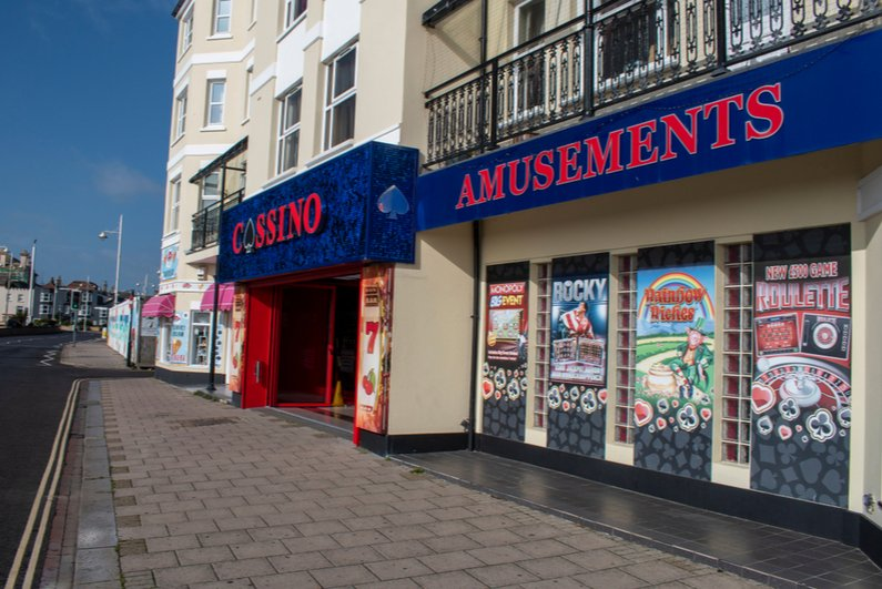 Gambling shop in the UK