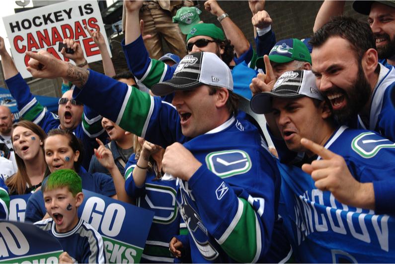 Vancouver Canucks hockey fans