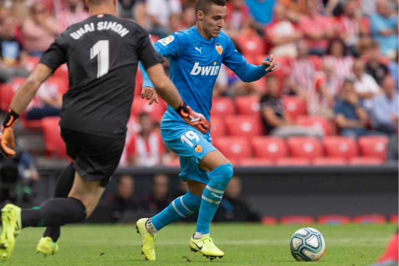Valenica player in LaLiga soccer match
