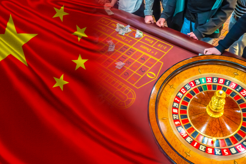 Roulette wheel and Chinese flag