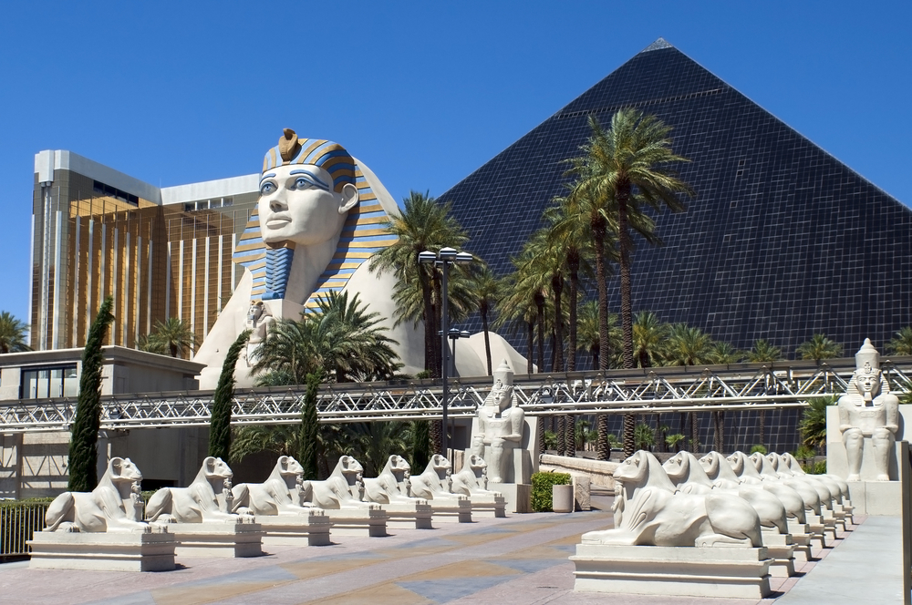 facade of the Luxor Hotel and Casino in Las Vegas